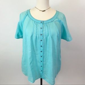 Avenue Emma linen/ cotton button up blouse 22/24